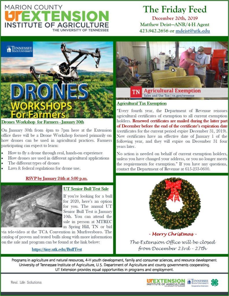 December 2019 The Friday Feed Newsletter