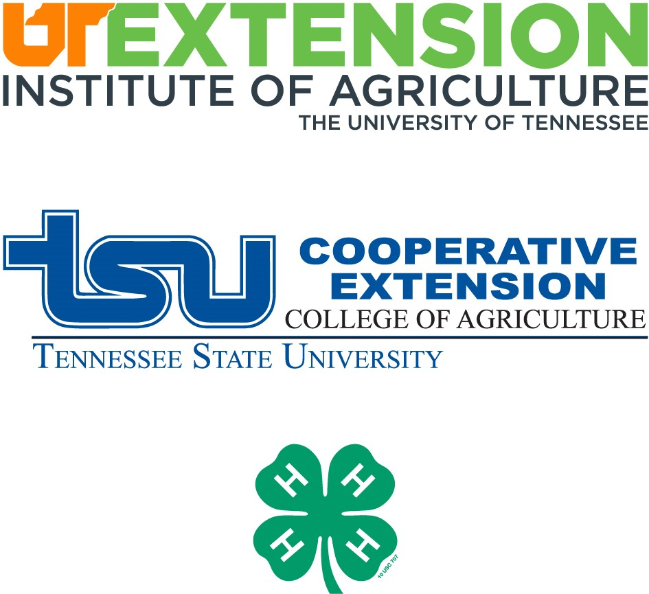 UT Extension Institute of Agriculture and TSU Cooperative Extension and 4-H logos